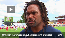 Christian Karembeu, explains why he supports the children with Diabetes